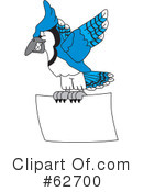 Blue Jay Mascot Clipart #62700 by Toons4Biz