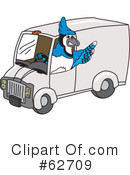 Blue Jay Mascot Clipart #62709 by Toons4Biz