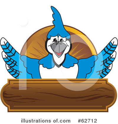 Blue Jay Mascot Clipart #62712 by Toons4Biz