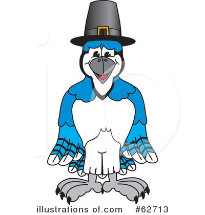 Blue Jay Mascot Clipart #62713 by Toons4Biz