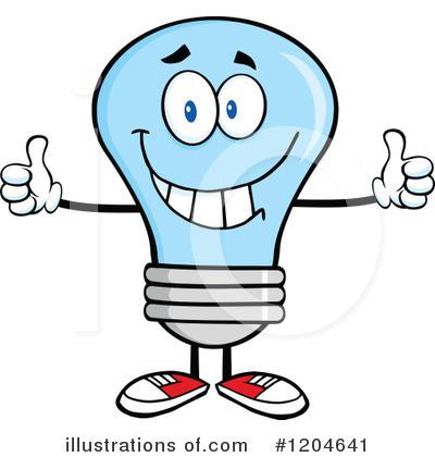 Royalty-Free (RF) Blue Light Bulb Clipart Illustration #1204641 by Hit ...