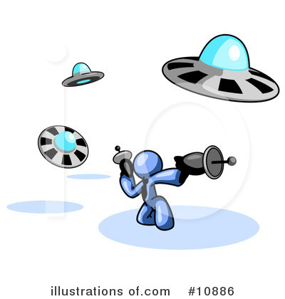 Alien Clipart #10886 by Leo Blanchette