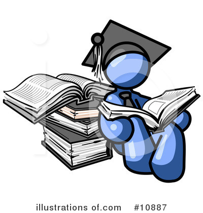 College Student Clipart #10887 by Leo Blanchette