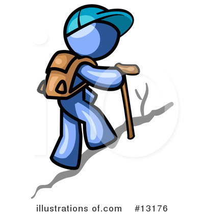 Hiking Clipart #13176 by Leo Blanchette
