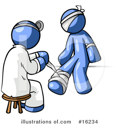 Royalty-Free (RF) Blue Man Clipart Illustration by Leo Blanchette - Stock Sample #16234