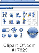 Royalty-Free (RF) Blue Man Clipart Illustration #17629