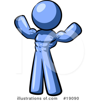 Blue Man Clipart #19090 by Leo Blanchette