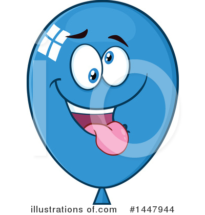 Blue Party Balloon Clipart #1447944 by Hit Toon