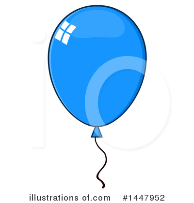 Balloons Clipart #1447952 by Hit Toon