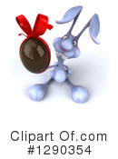 Royalty-Free (RF) Blue Rabbit Clipart Illustration #1290354