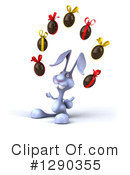 Royalty-Free (RF) Blue Rabbit Clipart Illustration #1290355