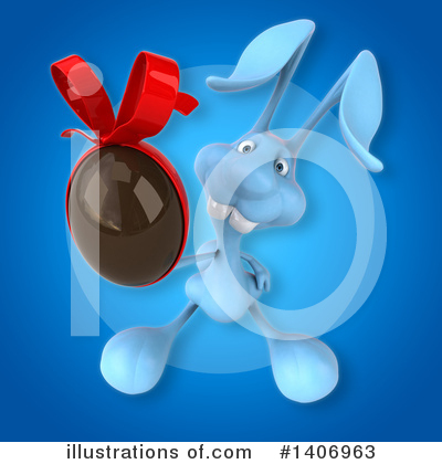 Royalty-Free (RF) Blue Rabbit Clipart Illustration by Julos - Stock Sample #1406963