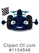 Blue Race Car Clipart #1104548 by Julos