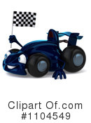 Blue Race Car Clipart #1104549 by Julos