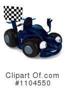 Blue Race Car Clipart #1104550 by Julos