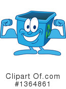 Blue Recycle Bin Character Clipart #1364861 by Toons4Biz