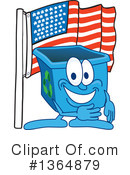 Blue Recycle Bin Character Clipart #1364879 by Toons4Biz