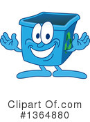 Blue Recycle Bin Character Clipart #1364880 by Toons4Biz