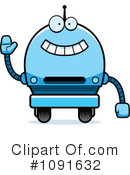 Blue Robot Clipart #1091632 by Cory Thoman