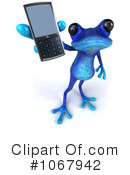 Royalty-Free (RF) Blue Springer Frog Clipart Illustration #1067942
