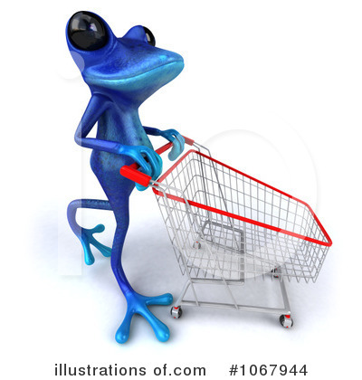 Royalty-Free (RF) Blue Springer Frog Clipart Illustration by Julos - Stock Sample #1067944