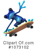 Royalty-Free (RF) Blue Springer Frog Clipart Illustration #1073102