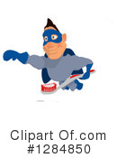 Blue Super Hero Clipart #1284850 by Julos