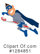 Blue Super Hero Clipart #1284851 by Julos