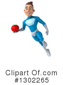 Blue Super Hero Clipart #1302265 by Julos