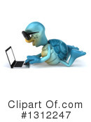Blue Tortoise Clipart #1312247 by Julos