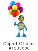 Blue Tortoise Clipart #1333688 by Julos