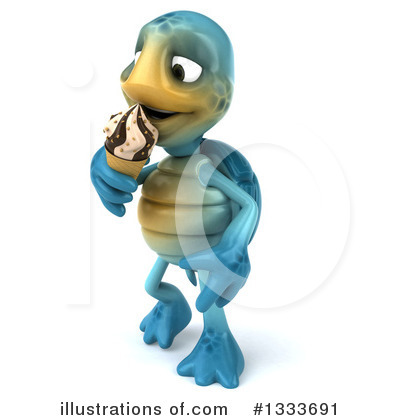 Blue Turtle Clipart #1333691 by Julos