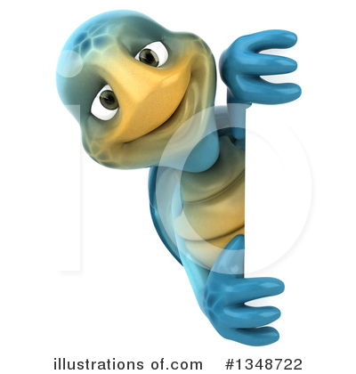 Blue Turtle Clipart #1348722 by Julos