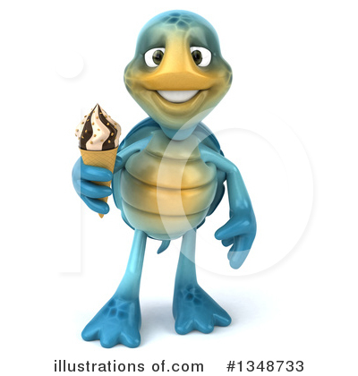 Blue Turtle Clipart #1348733 by Julos
