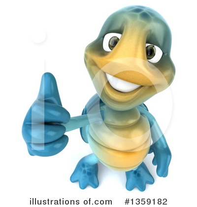 Blue Turtle Clipart #1359182 by Julos