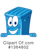 Blue Trash Can Clipart #1364802 by Toons4Biz