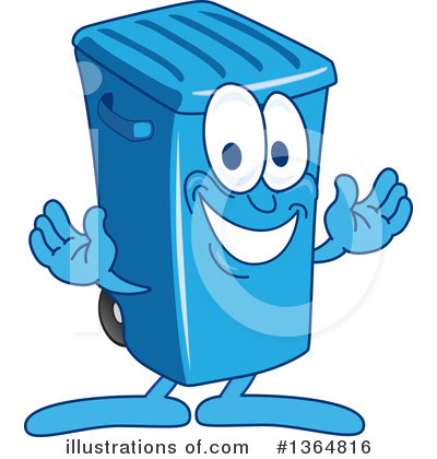 Trash Can Character Clipart #1364816 by Toons4Biz