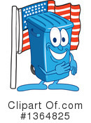 Blue Trash Can Clipart #1364825 by Toons4Biz