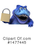 Blue Trex Clipart #1477445 by Julos