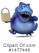 Blue Trex Clipart #1477446 by Julos
