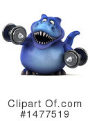 Blue Trex Clipart #1477519 by Julos