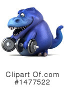 Blue Trex Clipart #1477522 by Julos