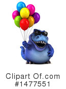 Blue Trex Clipart #1477551 by Julos