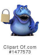 Blue Trex Clipart #1477573 by Julos