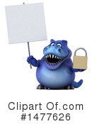 Blue Trex Clipart #1477626 by Julos