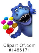 Blue Trex Clipart #1486171 by Julos