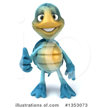 Blue Turtle Clipart #1353073 by Julos