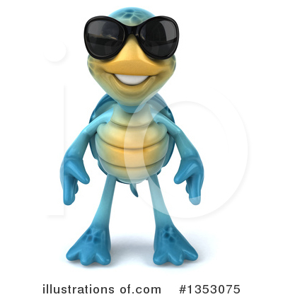 Blue Turtle Clipart #1353075 by Julos