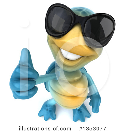 Blue Turtle Clipart #1353077 by Julos