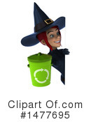 Blue Witch Clipart #1477695 by Julos